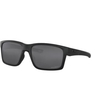Oakley Mainlink Polarized Sunglasses, Oo9264 61 In Matte Black/prizm Black Polarized