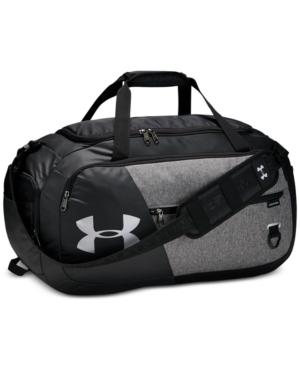Under Armour Undeniable Duffel 4.0 Medium Duffle Bag In Black/hthr Grey