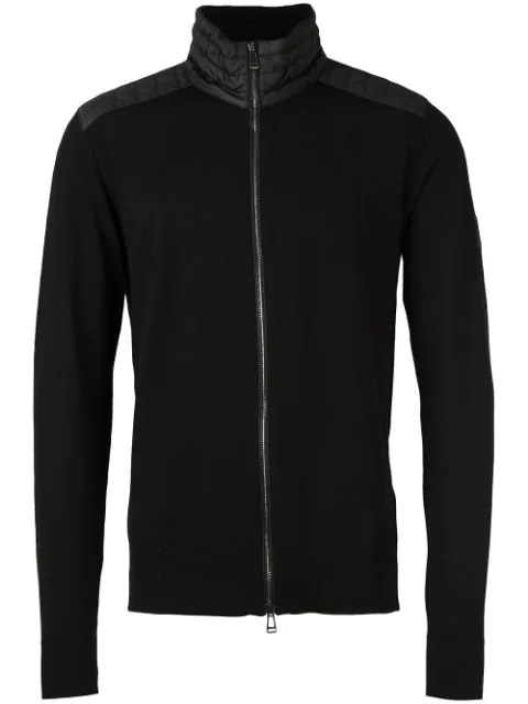 Belstaff Merino Wool Kelby Zip Cardigan Colour: Black
