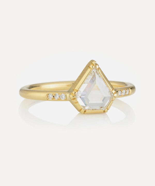 Brooke Gregson Gold Princess Diamond Band Ring