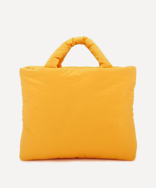Kassl Editions Small Light Cotton Tote Bag In Orange