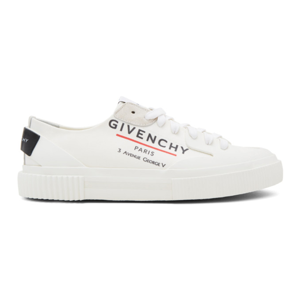 Givenchy Tennis Light Logo-print Canvas Low-top Sneakers In White