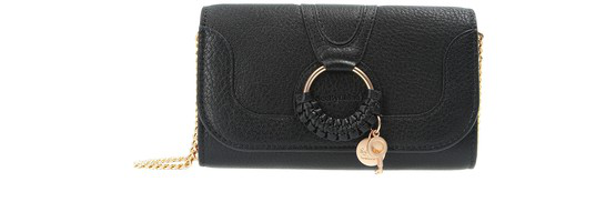 See By Chloé Hana Wallet With Chain In Black
