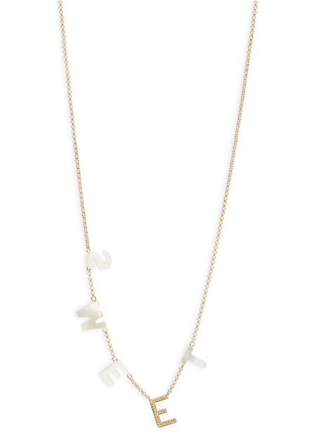 Médecine Douce Sweet Necklace In Gold/mother Of Pearl