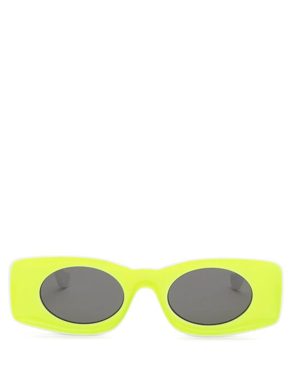 Loewe Paula's Ibiza Square-frame Acetate Sunglasses In Yellow