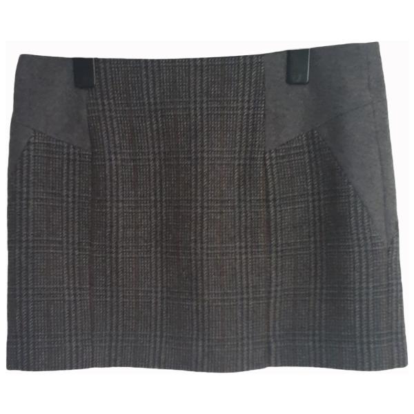 Claudie Pierlot Grey Wool Skirt