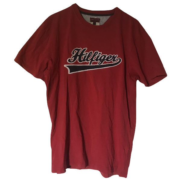 Tommy Hilfiger Red Cotton T-shirts