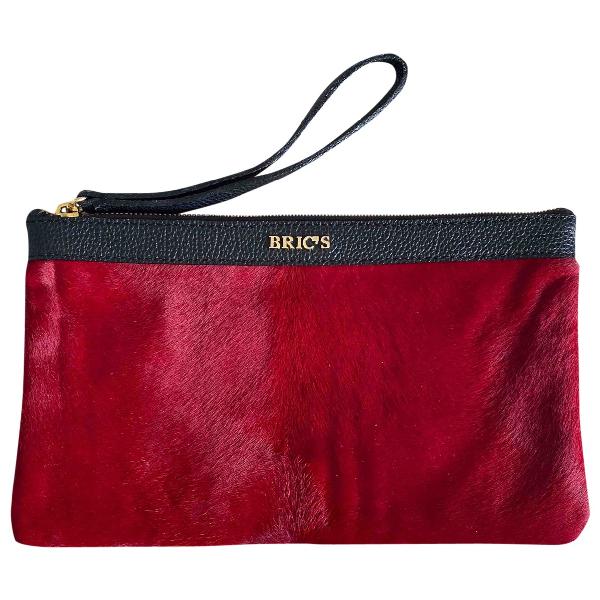 Bric's Red Pony-style Calfskin Handbag
