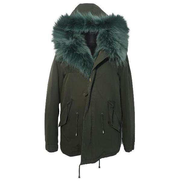 Barbed Khaki Fur Coat