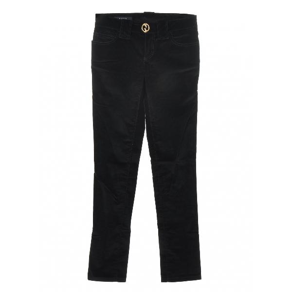 Gucci Black Velvet Trousers