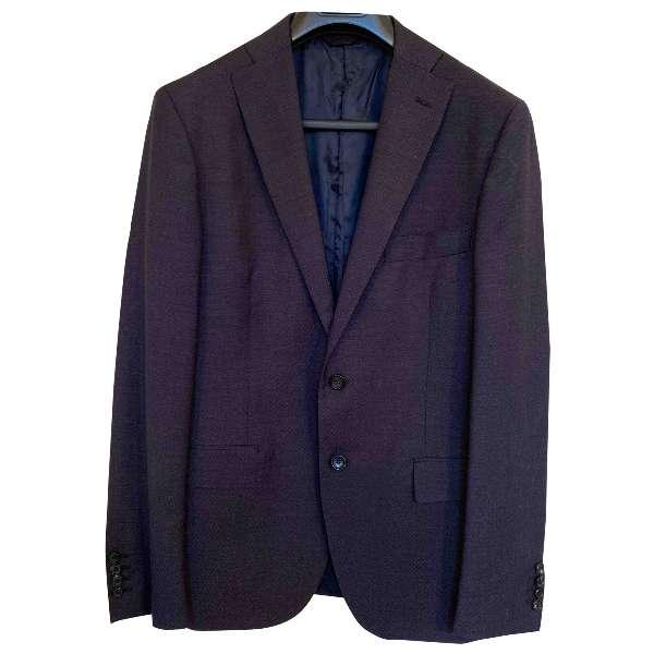 Tonello Blue Wool Suits