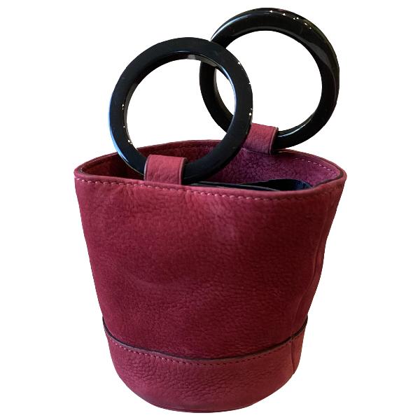 Simon Miller Small Bonsai Pink Suede Handbag