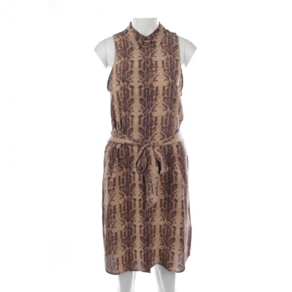 Equipment Brown Silk Dress