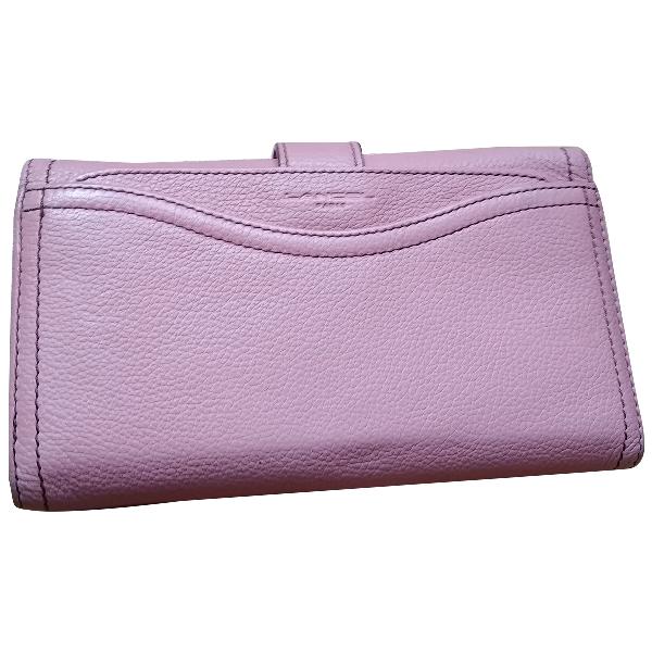 Lancel 1er Flirt Pink Leather Clutch Bag