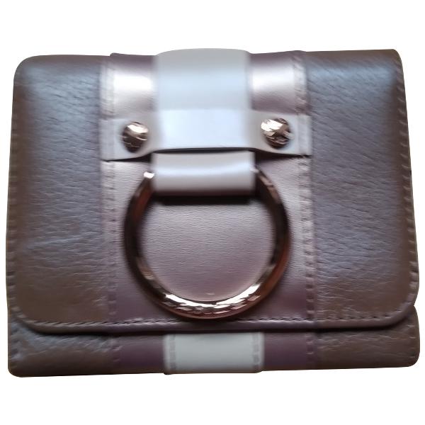 Lancel 1er Flirt Gold Leather Clutch Bag