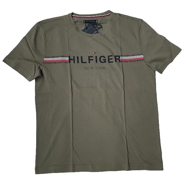 Tommy Hilfiger Khaki Cotton T-shirts
