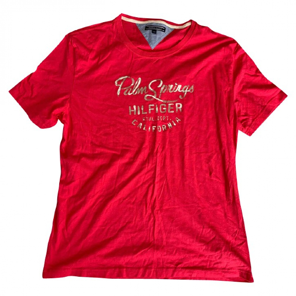 Tommy Hilfiger Pink Cotton T-shirts