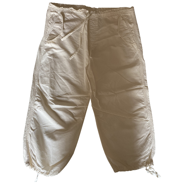 Ymc You Must Create White Cotton Trousers