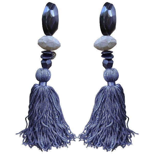 Monies Purple Horn Earrings