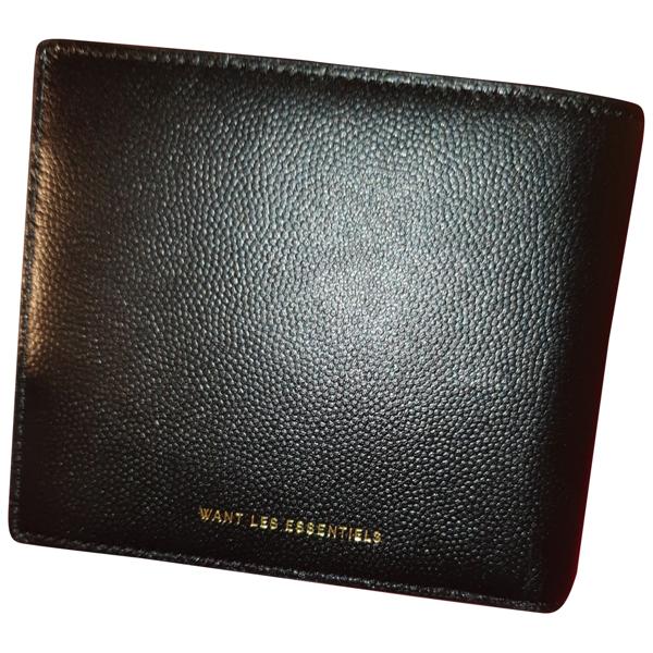Pre-owned Want Les Essentiels De La Vie Black Leather Small Bag, Wallet & Cases