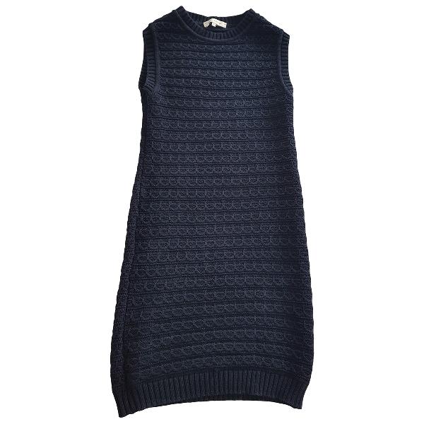 Pierre Balmain Blue Wool Dress