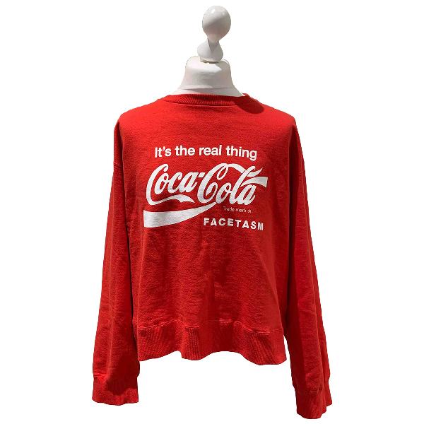 Facetasm Red Cotton Knitwear & Sweatshirts