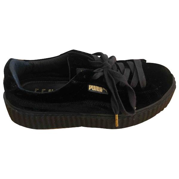 Fenty X Puma Black Leather Trainers