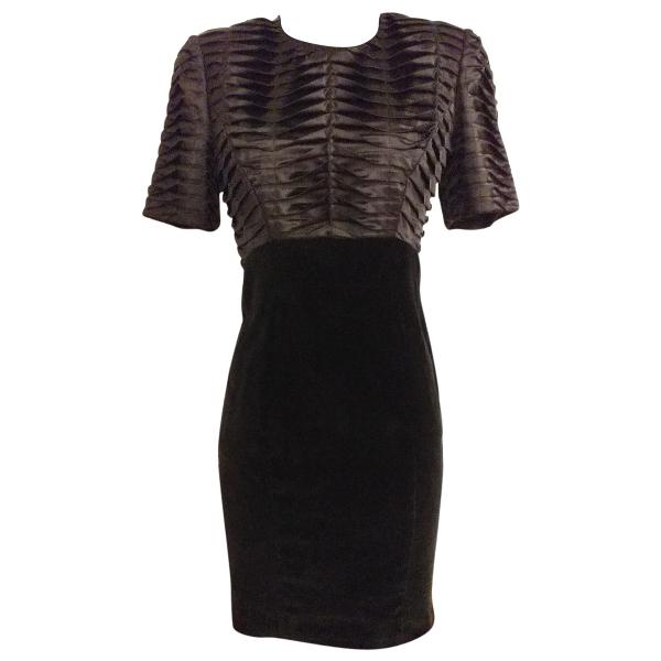Fendi Black Velvet Dress