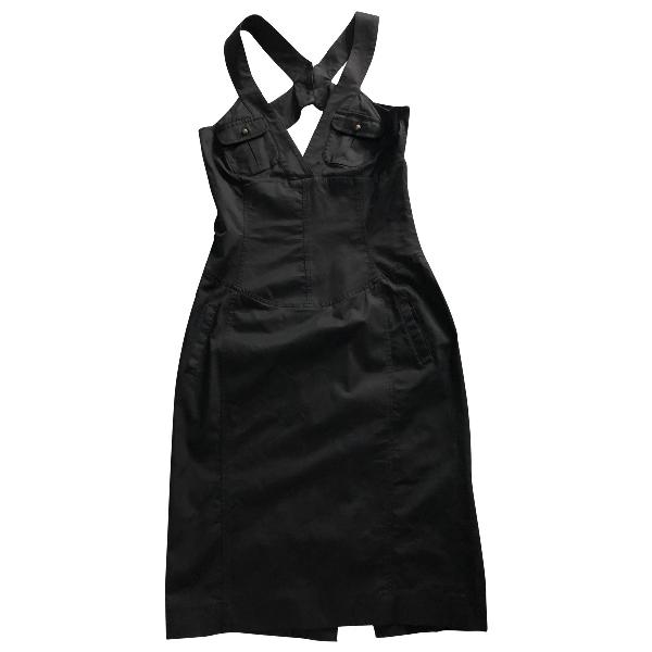 Daniele Alessandrini Black Cotton Dress