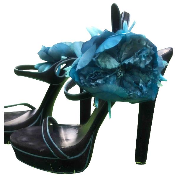 Gucci Black Velvet Sandals