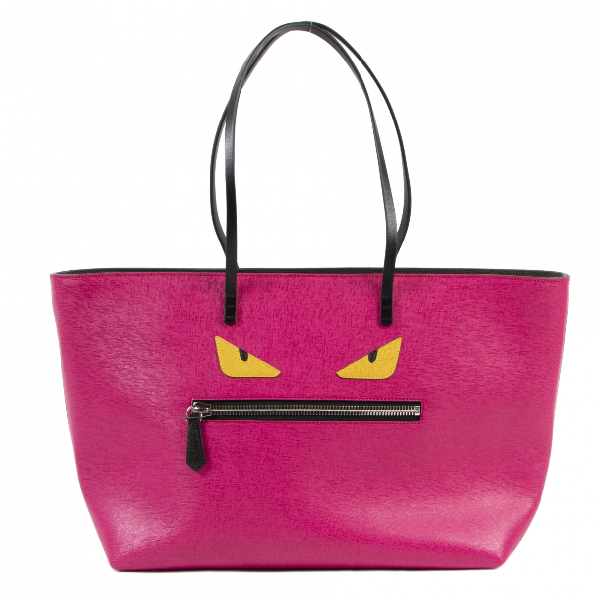 Fendi Roll Bag  Pink Leather Handbag