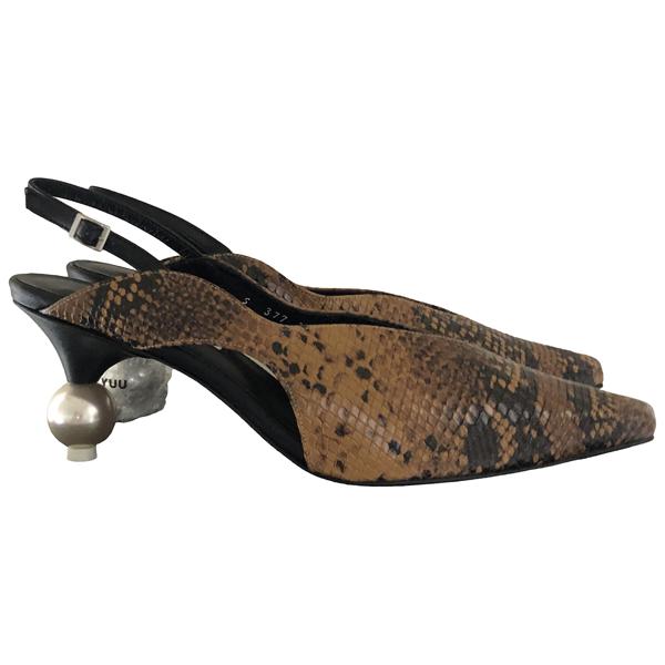 Yuul Yie Camel Leather Heels