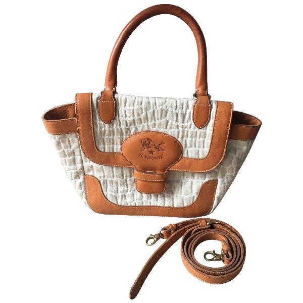 Il Bisonte Beige Leather Handbag