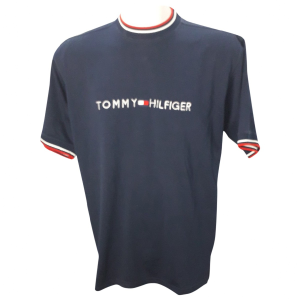 Tommy Hilfiger Blue Cotton T-shirts