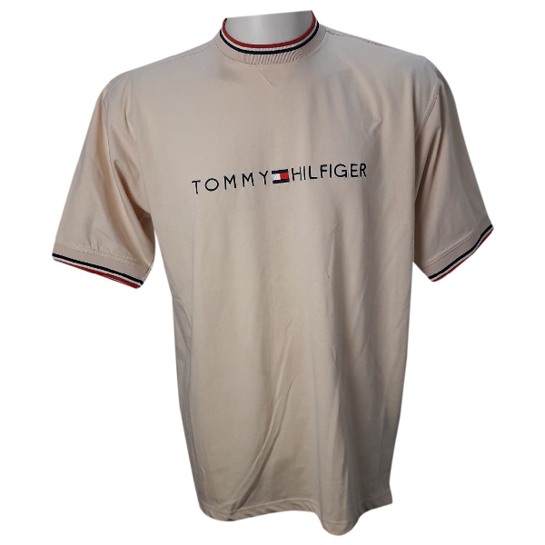 Tommy Hilfiger Beige Cotton T-shirts
