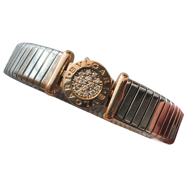 Bvlgari Tubogas Silver Steel Bracelet