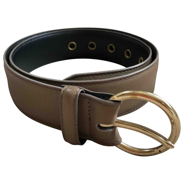 Pre-owned Closed Beige Leather Belt
