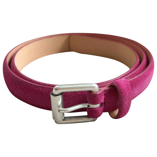Pre-owned Closed Pink Suede Belt