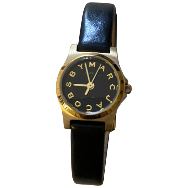 Pre-owned Marc Jacobs Black Steel Watch