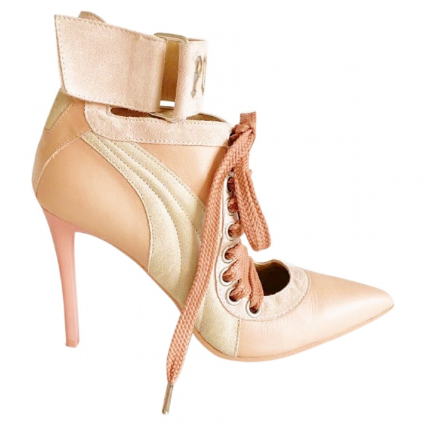 Fenty X Puma Pink Leather Heels