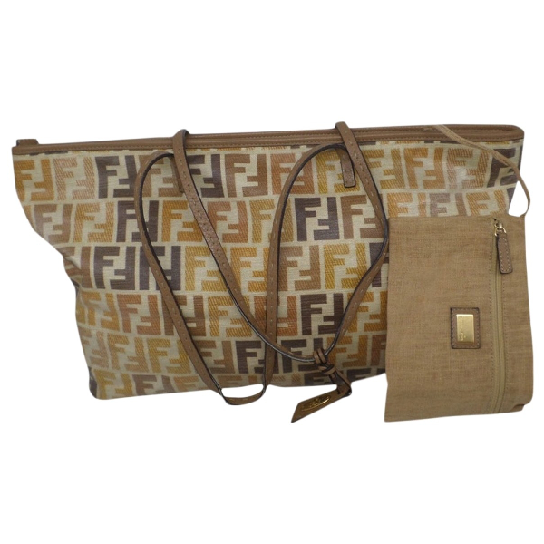 Fendi Roll Bag  Brown Cloth Handbag
