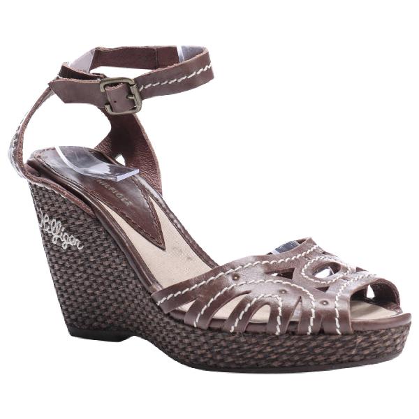 Tommy Hilfiger Brown Leather Sandals