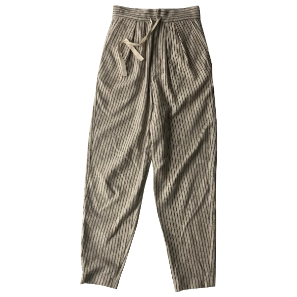 Isabel Marant Étoile Ecru Cotton Trousers