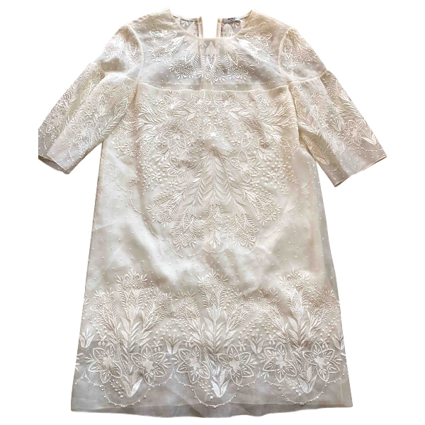 Vilshenko White Silk Dress