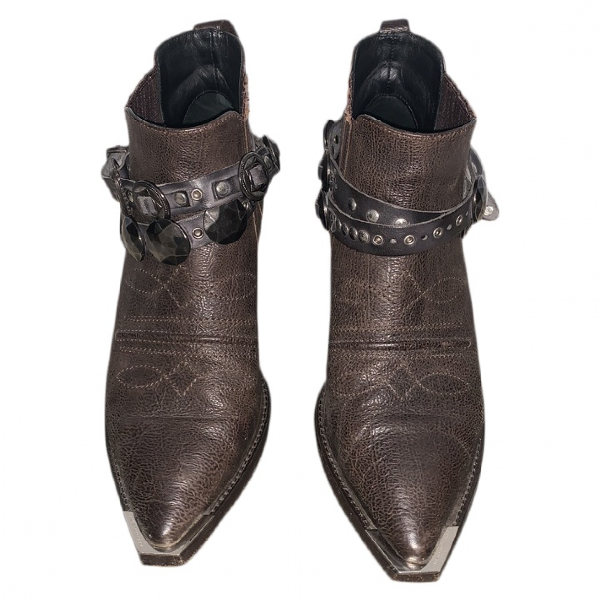 Luis Onofre Brown Leather Ankle Boots