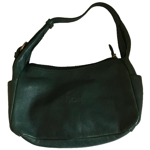 Il Bisonte Green Leather Handbag