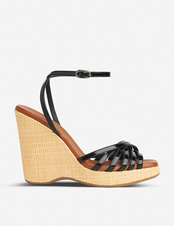 Lk Bennett Solange Leather Wedge Sandals