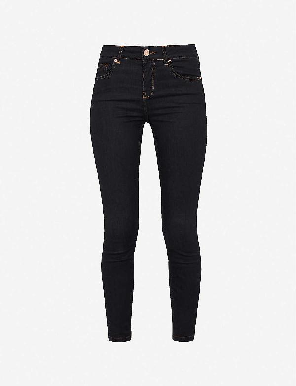 Ted Baker Mid-rise Skinny Stretch-denim Jeans In Dark Blue