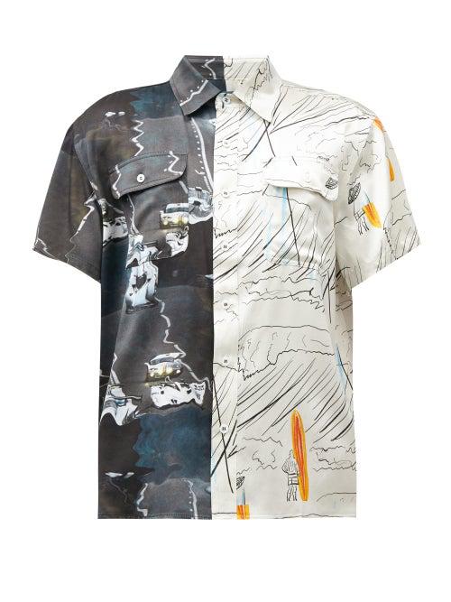 Lost Daze Liquify Surf Cotton Button-down Shirt In Multi
