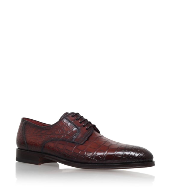 Magnanni Crocodile Derby Shoes